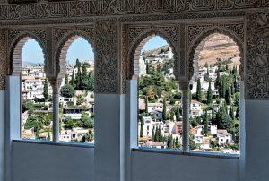 宮殿の窓からみた町並み